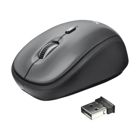 Mouse Wireless Óptico Led 1600 Dpis Yvi Black 18519 Trust