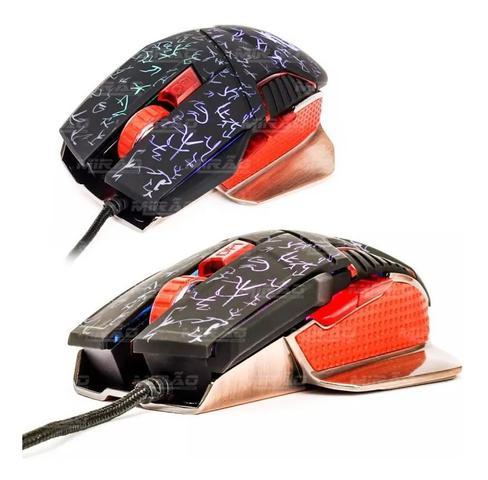 Mouse Usb Óptico Led 1600 Dpis Kp-v7 Knup