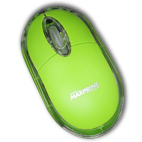 Mouse Usb Óptico Led 1000 Dpis Colors Verde 6012034 Maxprint