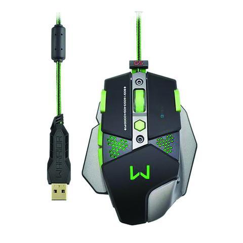 Mouse Usb Óptico Led 4000 Dpis Gamer Warrior Multimídia Mo249 Multilaser