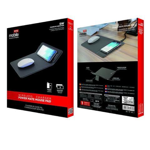 Imagem de Mousepad com carregador sem fio por indução Power Mouse Pad 10W - Easy Mobile