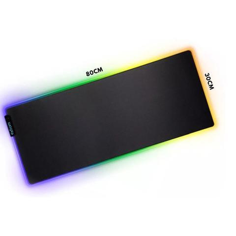 Imagem de Mousepad Gamer Grande Com Led RGB 7 cores 80x30cm - Exbom