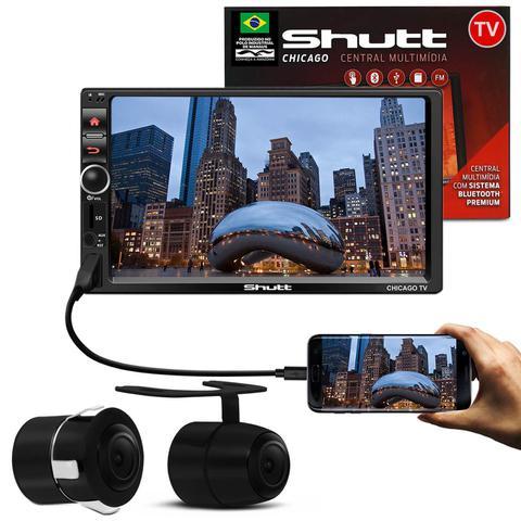 Imagem de MP3 MP5 Player Automotivo Shutt Chicago TV 7 Pol Bluetooth Tv Digital USB + Câmera Ré Colorida 2x1