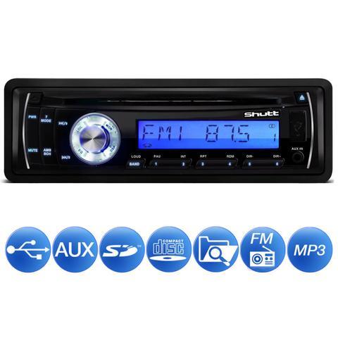 Imagem de MP3 Player Automotivo Shutt Texas 1 Din LCD CD USB SD Card Auxiliar P2 Rádio FM