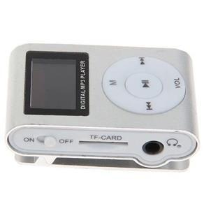 Imagem de MP3 Player com Entrada SD e Fone de Ouvido Prata