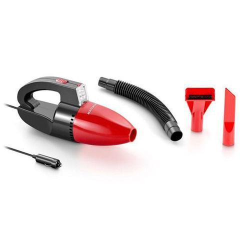 Imagem de Multilaser aspirador de pó automotivo 1500pa 12v 60w funcao solido e liquido com mangueira vermelho - au607