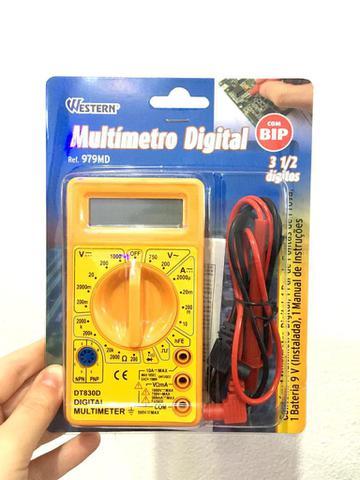 Imagem de Multímetro Digital Profissional Com Bip 3 1/2 Dígitos