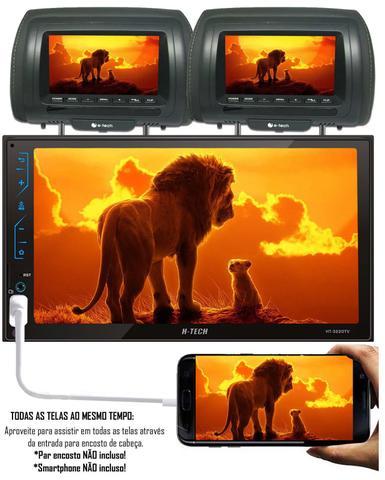 Imagem de Multimídia MP5 H-Tech HT-3220TV TV Digital Integrado Espelhamento Android IOS Bluetooth + Câmera de Ré