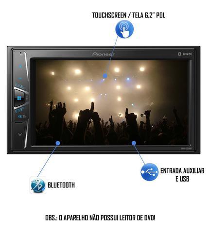 Imagem de Multimídia Pioneer DMH-G228BT Vw Gol Saveiro Parati G4 Bluetooth USB + Câmera Ré - Preto ou Prata