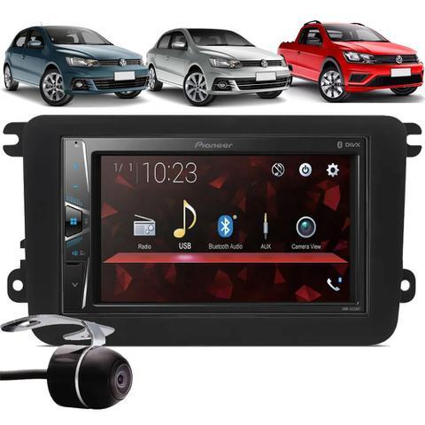 Imagem de Multimídia Pioneer DMH-G228BT Vw Gol Saveiro Voyage G7 G8 2017 À 2021 Bluetooth USB + Moldura + Câmera Ré