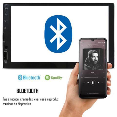 Imagem de Multimídia Vw Gol Voyage Saveiro G5 2009 à 2013 Espelhamento Bluetooth USB SD Card + Moldura + Câmera Ré