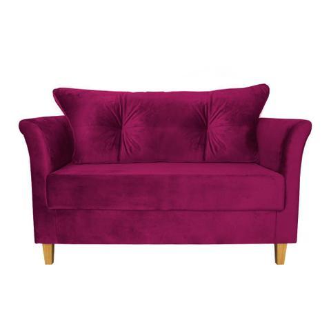 Imagem de Namoradeira Aurora 120cm Suede Pink Takeda Estofados