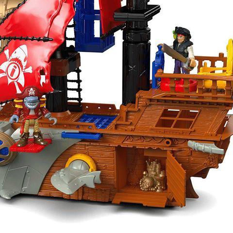 Imagem de Navio Pirata Mordida de Tubarão Imaginext - Fisher-Price DHH61