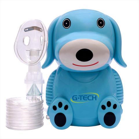Imagem de Nebulizador e inalador infantil nebdog cachorrinho azul g-tech