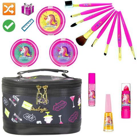 Imagem de Necessaire Maleta Infantil Com Kit Maquiagem Completo MKI036
