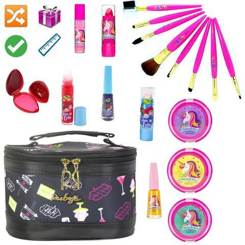 Imagem de Necessaire Maleta Infantil Com Kit Maquiagem Completo MKI038