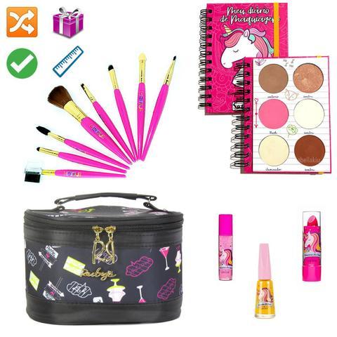 Imagem de Necessaire Maleta Infantil Com Kit Maquiagem Completo MKI093