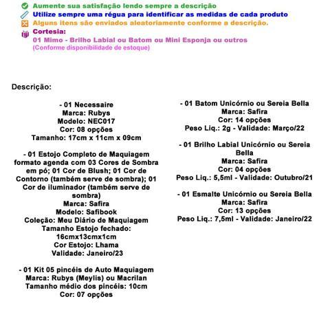 Imagem de Necessaire Maleta Infantil Com Kit Maquiagem Completo MKI133