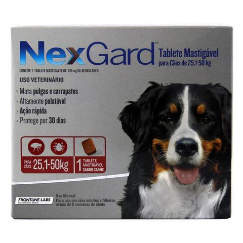 Imagem de Nexgard GG Cães 25,1 a 50kg Antipulgas e Carrapatos Merial - Descrição marketplace