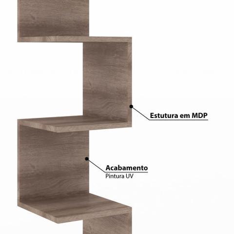 Imagem de Nicho de Canto com 3 Prateleiras Rústico