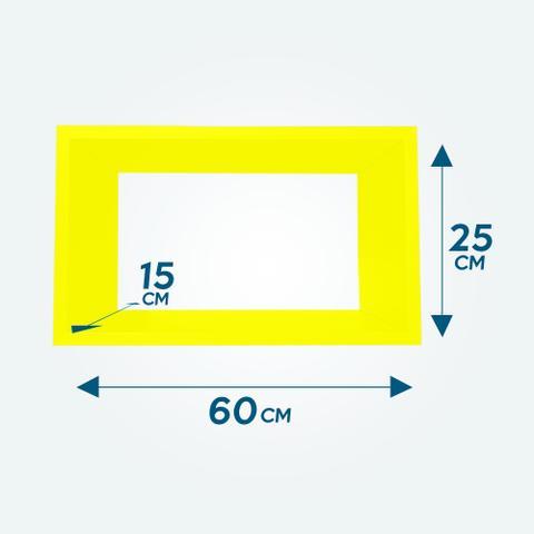 Imagem de Nicho Decorativo Amarelo 25x25x15 100 MDF 15mm