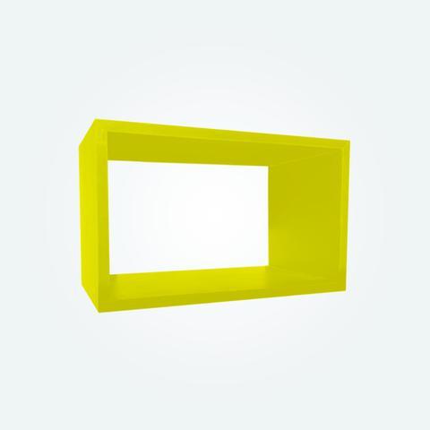 Imagem de Nicho Decorativo Amarelo 60x25x15 100 MDF 15mm