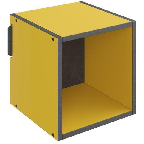 Imagem de Nicho Quadrado Decorativo Mov Amarelo - Be Mobiliário