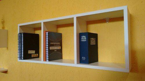 Imagem de Nicho Retangular C/ 3 Quadrados- p/livros 80x30x20cm -100% Mdf