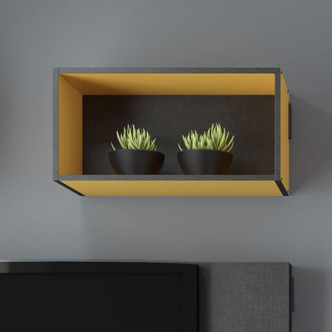Imagem de Nicho Retangular Decorativo Mov Amarelo - Be Mobiliário