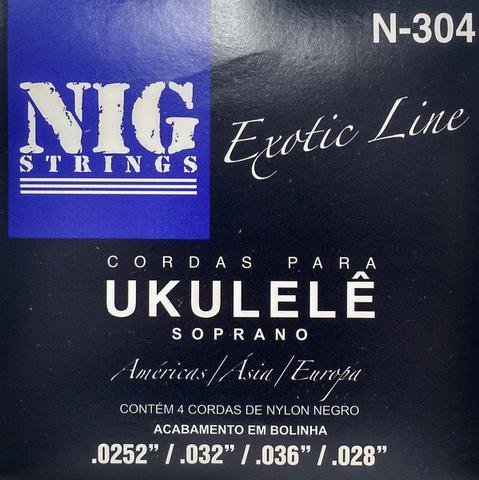 Imagem de NIG - Encordoamento Para Ukulele Nylon Preto Com Bolinha N304