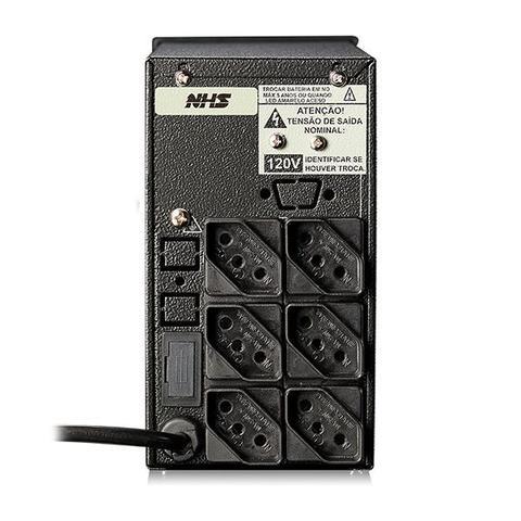 Imagem de Nobreak NHS Mini III 600VA/300W E.Bivolt / S.220V ou 120V (jumper interno) / Bateria Selada 1 x 7Ah