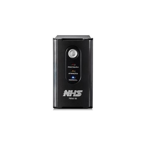 Imagem de Nobreak NHS Mini III, 600VA, Bateria Selada 7Ah, Bivolt, Preto