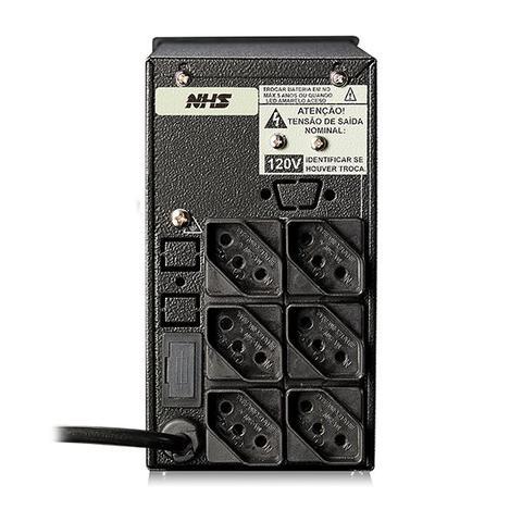 Imagem de Nobreak NHS Mini III 700VA/350W E.Bivolt / S.220V ou 120V (jumper interno) / Selada 1 x 7Ah