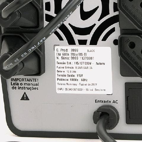 Imagem de Nobreak Senoidal E. Trivolt S. 115v  Bat. 1x7Ah 6 Tomadas com USB Ragtech Easy Pro 1200VA