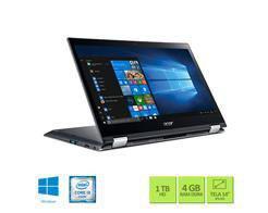 Imagem de Notebook 2 em 1 Touch ACER SPIN SP314-51-31RV I3-7020U 4GB 1TB Graphics 620 Dedi 14