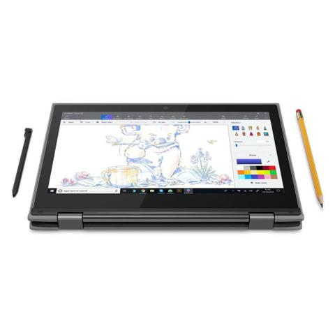 "Notebook - Lenovo 81m9003pbr Celeron N4100 1.10ghz 4gb 64gb Ssd Intel Hd Graphics Windows 10 Professional 300e 11,6"" Polegadas"