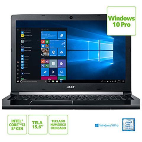 Imagem de Notebook Acer 15,6 Led A515-51-37 LG I3-8130U 4GB 1TB W10 Pro