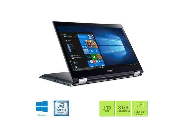 Imagem de Notebook Acer 2 em 1 Core I5 8GB 1TB Windows 10 Preto