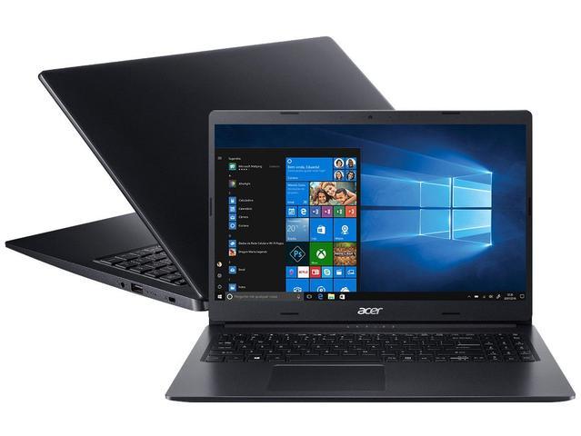 "Notebook - Acer A315-23g-r2se Amd Ryzen 5-3500u 2.10ghz 8gb 256gb Ssd Amd Radeon Graphics Windows 10 Home Aspire 3 15,6"" Polegadas"