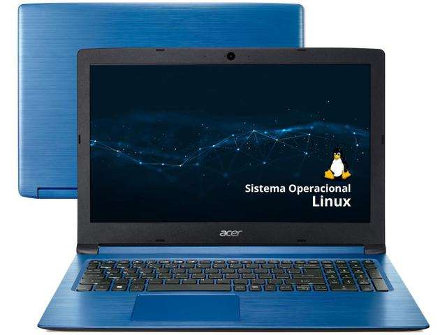 "Notebook - Acer A315-53-c2ss I5-8250u 1.60ghz 8gb 512gb Ssd Intel Hd Graphics 620 Endless os Aspire 3 15,6"" Polegadas"