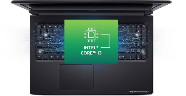 Notebook - Acer A315-53-xx-ssd I3-7020u 2.30ghz 4gb 120gb Híbrido Intel Hd Graphics 620 Windows 10 Home Aspire 3 15,6