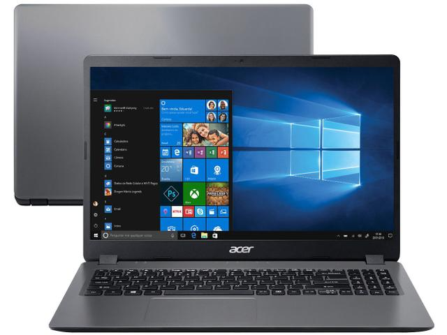 "Notebook - Acer A315-56-3090 I3-1005g1 1.20ghz 8gb 256gb Ssd Intel Hd Graphics Windows 10 Home Aspire 3 15,6"" Polegadas"