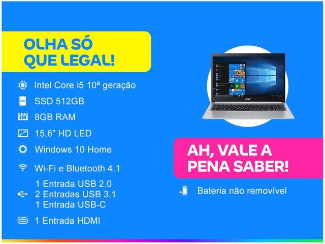 Imagem de Notebook Acer Aspire 5 A515-54-59X2 Intel Core i5