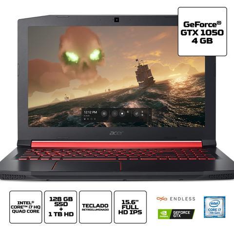 "Imagem de Notebook Acer Aspire Nitro 5 AN515-51-71A7 Intel Core i7 Memória de 8GB SSD 128GB e HD de 1TB GeForce GTX 1050 4GB GDDR5 15.6"" Full HD Endless OS"