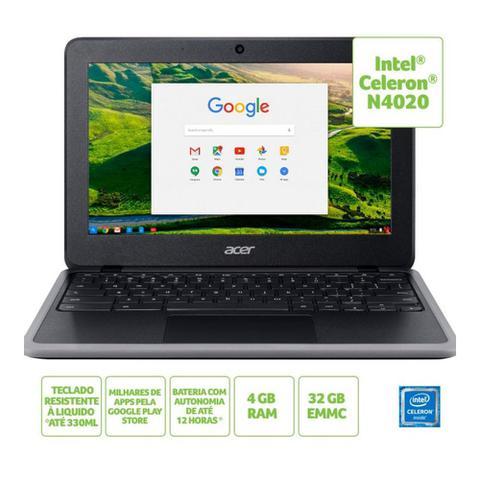 Imagem de Notebook Acer Chromebook 11.6 HD Intel Celeron N4020 32GB e.MMC 4GB Chrome OS NX.HKNAL.003