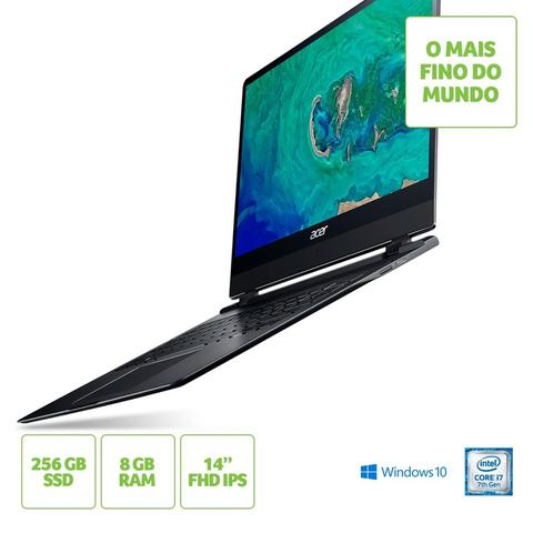 Imagem de Notebook Acer Swift 7 SF714-51T-M4B3 Intel Core i7-7Y75 8GB SSD 256 14
