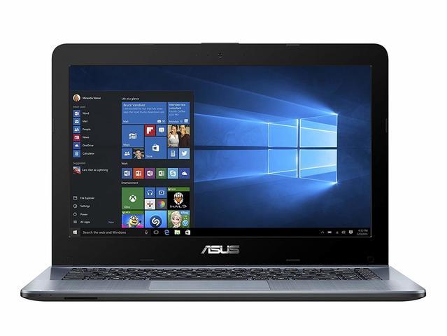Imagem de Notebook Asus X4 AMD A6 2.6GHz 4GB DDR4 500GB HDD RJ45 VGA Windows 10 Tela 14  Cinza