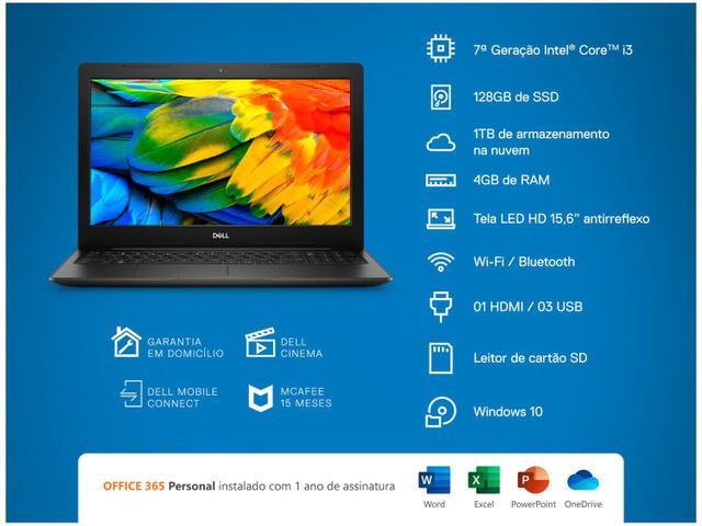 Imagem de Notebook Dell Inspiron 15 3000 3584ML1P