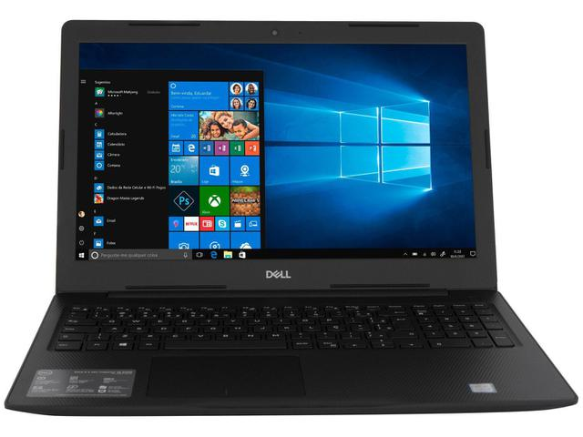 "Notebook - Dell I15-3584-ml1p I3-7020u 2.30ghz 4gb 128gb Ssd Intel Hd Graphics 620 Windows 10 Professional Inspiron 15,6"" Polegadas"
