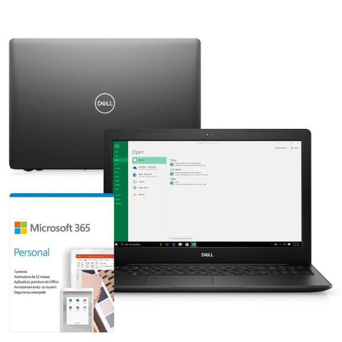 Notebook - Dell I15-3583-m3xf I5-8265u 1.60ghz 8gb 1tb Padrão Intel Hd Graphics 620 Windows 10 Home Inspiron 15,6